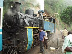 The locomotive of the Ooty miniature train.