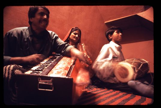 Family of musicians performing in Bikaner, Rajasthan.