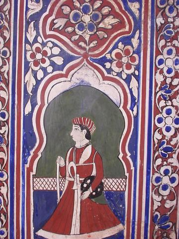 Detail of a painting from Nadine Le Prince's haveli.