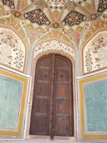 Doorway in the Amber Palace, near Jaipur.