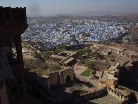 Jodhpur fort and the Blue City.