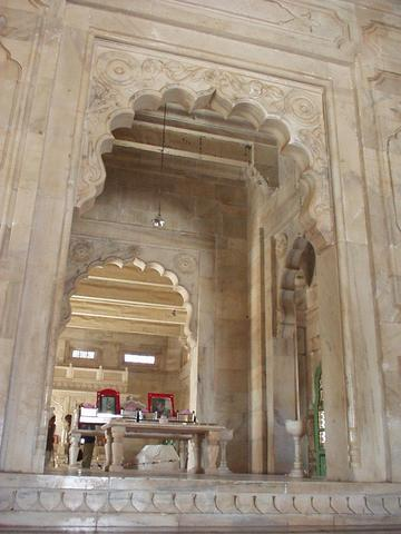 Interior of the Jaswant Thada.