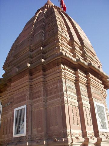 Tower of a Jain temple in Osiyan, Rajasthan.